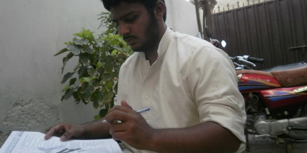 Shah during practice test