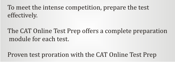 The CAT Online Test Prep